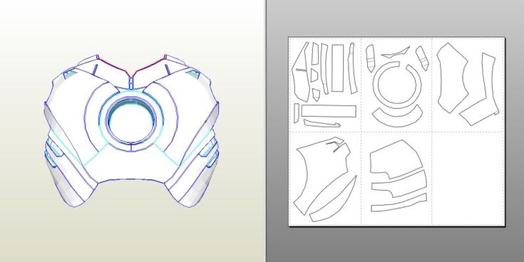 IRON MAN Mark 4/6 Pepakura FOAM Templates- *Video Tutorial Link in first Post*