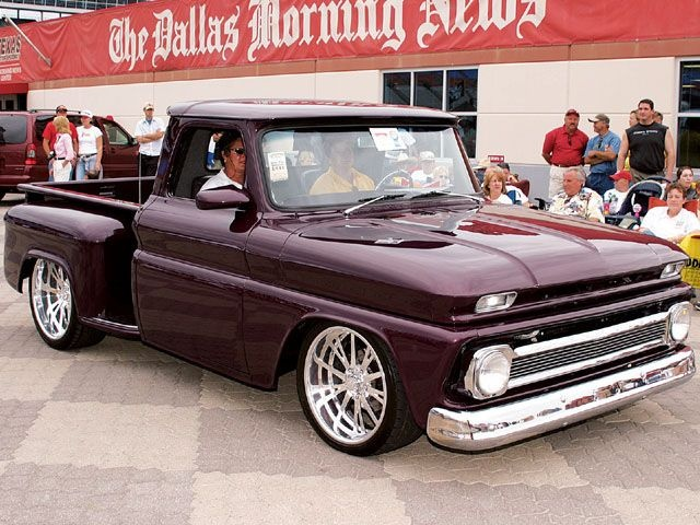 Now this one is my color. 1964 Chevy stepside truck. Very close to the same color as my Camaro.