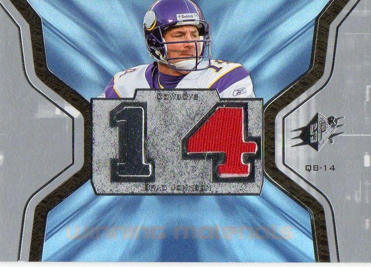 2007 Spx Winning Materials Brad Johnson Jersey Card Dallas Cowboys