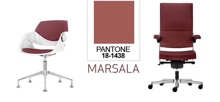 Pantone ogłosiło kolor roku 2015. Jest nim MARSALA czyli przybrudzone bordo, mieszanka tonów czerwieni i brązu. Nasza inspiracja: fotel G02 i SITAGONE deluxe