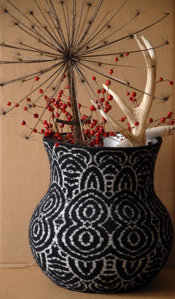Hello gorgeous vase from Erica Hogenbirk! http://wp.me/pjlln-2tT - the styling of this is perfect. Great photo! #felting #felt: Crafty Stuff, Felted Masterpiece, Crochet Art, Hello Gorgeous, Knitting Ideas, Knitting Inspiration