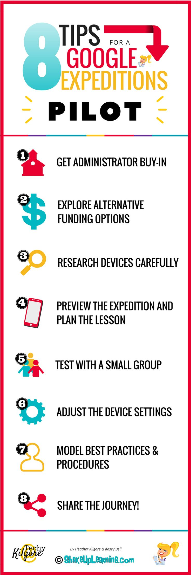 8 Tips for a Google Expeditions Pilot: Below are 8 Tips for a Google Expeditions Pilot from Heather Kilgore, an Instructional Technology Coordinator for Commerce ISD in Commerce, Texas, where she shares the lessons learned from their Google Expeditions pilot program. As we all begin to find ways to bring Google Expeditions, Google Cardboard, and other virtual reality experiences to our classrooms, I thought it was important to share this first-hand experience with you.