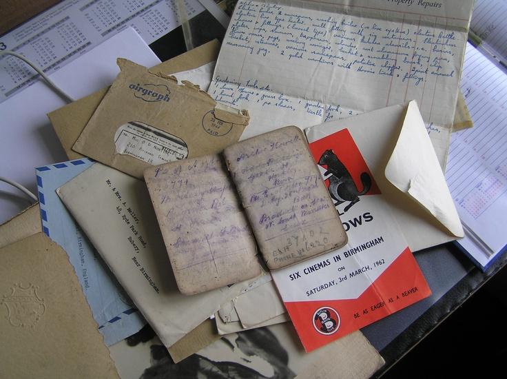 Ephemera - old letters/leaflets etc