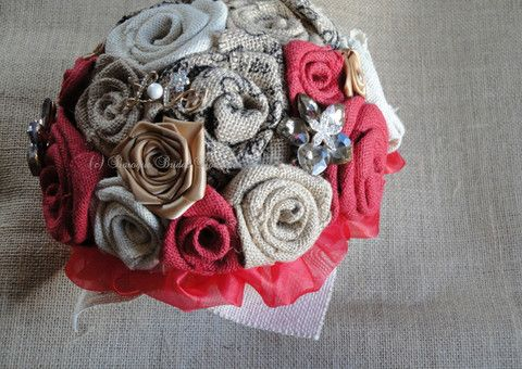 Love Rustic Hessian Bridal Bouquet – Baroque Bridal Boutique