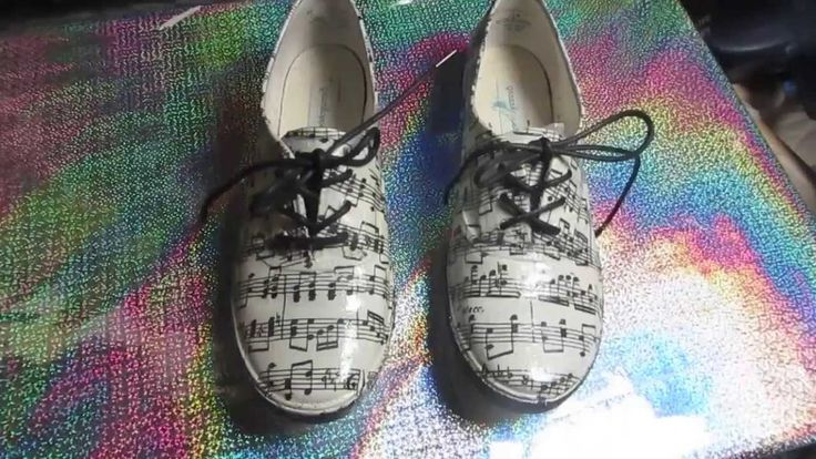 How to Decoupage Sneakers Music notes!