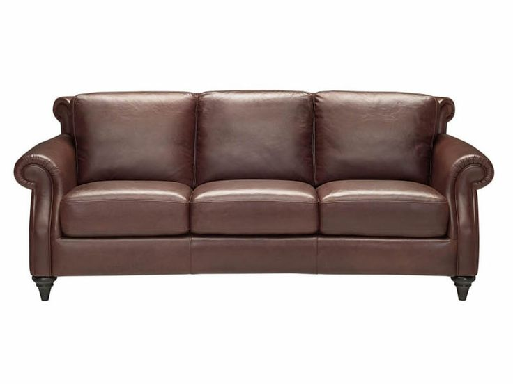 Natuzzi Brown Leather Couch 2 Please Living Room