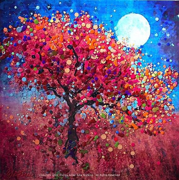 Pointillism tree. | Pointillism | Pinterest | Wiccan ...