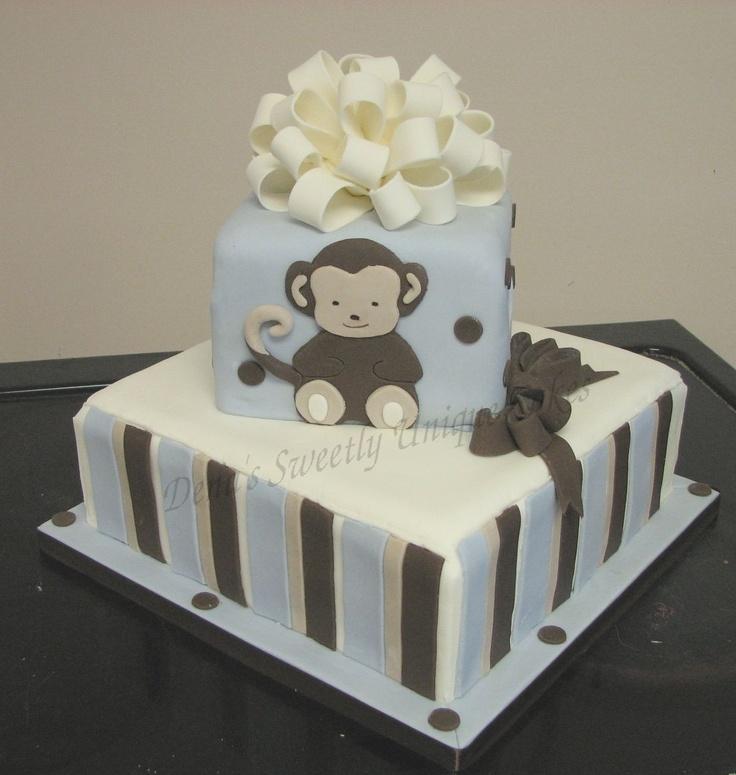 Baby Shower Cakes Monkey Girl