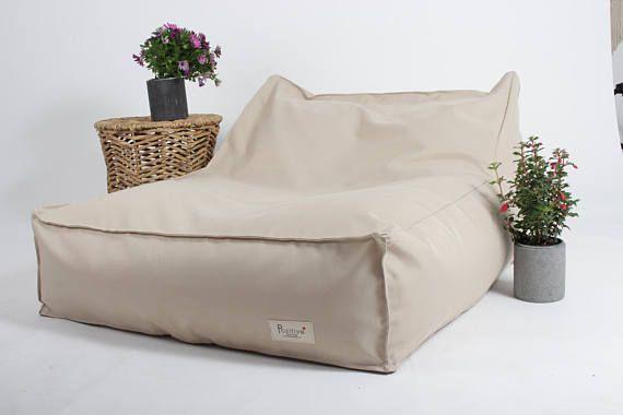 Outdoor beige Bean bagbeanbag chair water resistance. kids