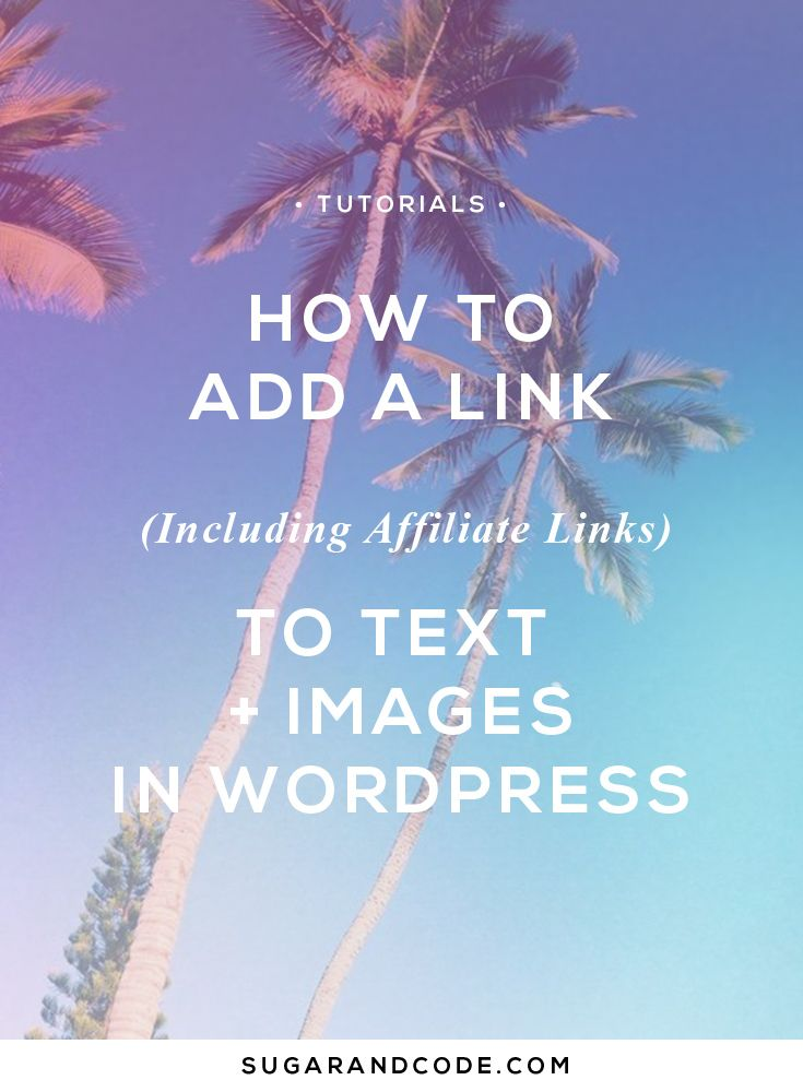 This tutorial will show you how to add text and image links (including affiliate links) using the easy link button in a WordPress post or page.