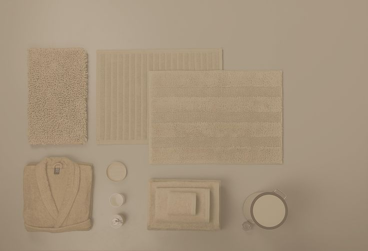 New Plus Range: bath rugs, towels, mats, accessories and bathrobes.