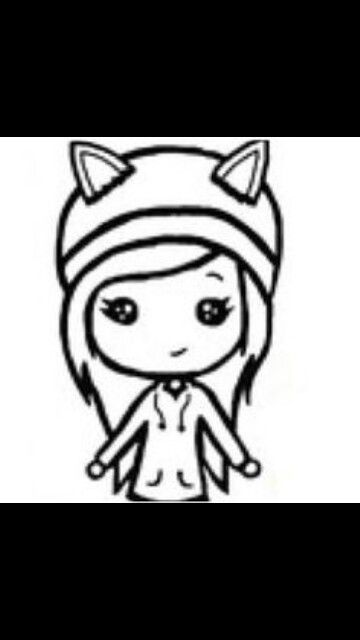 Best Chibi Template Images On   Girl Drawings