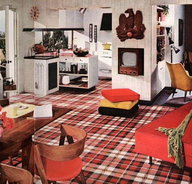 Kitchen Living Room Arrangement From The 1960s Vintage Interior DesignThe 1960sKitchen