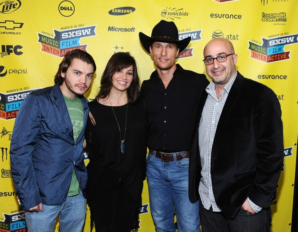 Matthew McConaughey, Emile Hirsch, Gina Gershon and LD Entertainment President David Dinerstein at the Killer Joe premiere @SXSW 2012