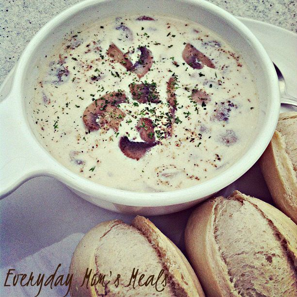 ~Crock Pot Cream of Mushroom Soup~ Simple yet elegant. This creamy, rich, comforting soup is full of mushroom flavor!