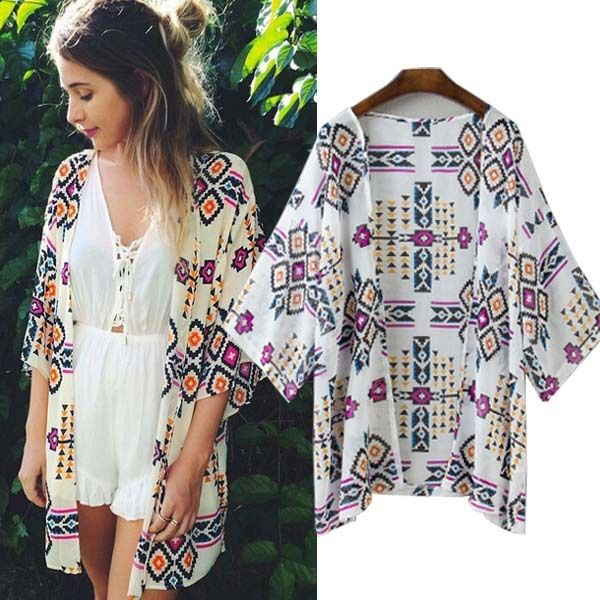 Find More Blouses & Shirts Information about Cute Women's Kimonos Patchwork Print ,High Quality print dvd,China print bikini Suppliers, Cheap kimono tunic from Lolo Moda on Aliexpress.com