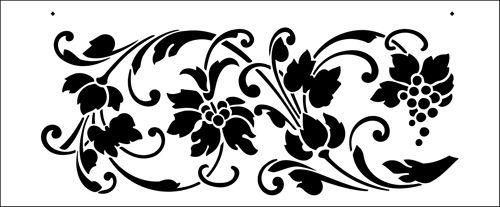 Victorian stencil from The Stencil Library BUDGET STENCILS range. Buy stencils online. Stencil code TR134.
