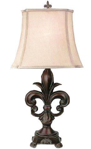 LAMP FLEUR DE LIS