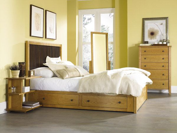 The Copeland Dominion Storage Bed at Vermont Woods Studios