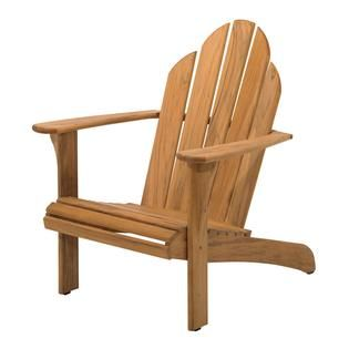 This #Gloster #Adirondack chair is built from premium plantation-grown #teak and combines old-world style with updated Scandinavian flair courtesy of designer Povl Eskildsen. It's a distinguished, contemporary take on a time-honored classic. These teak Adirondack chairs would be ideal on a deck or #patio, at a lakeside home or in front of a #backyard fire pit.