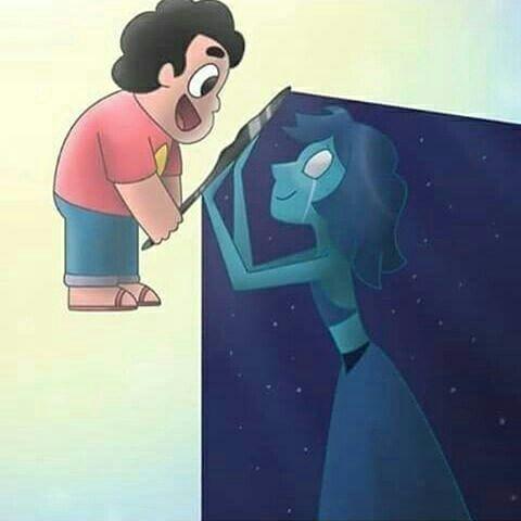 STEVEN UNIVERSE ~ steven & lapis lazuli