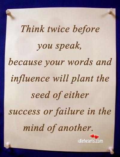 Think before speaking essay