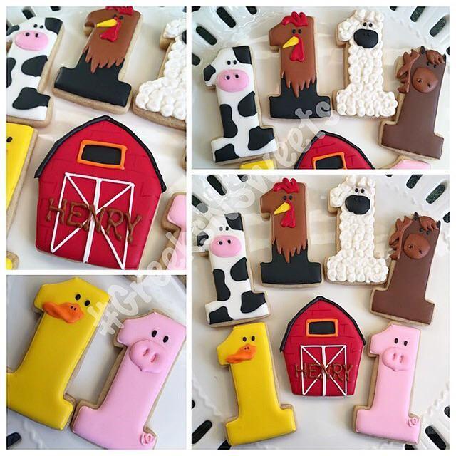 Barn Yard Animal Cookies - Greeks-N-Sweets   Cookie Connection