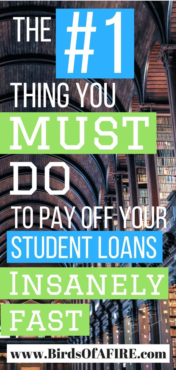 The #1 Thing You Need To Do To Pay Off Student Loans Faster (+