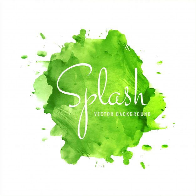 Download Modern Green Watercolor Splash Background For Free