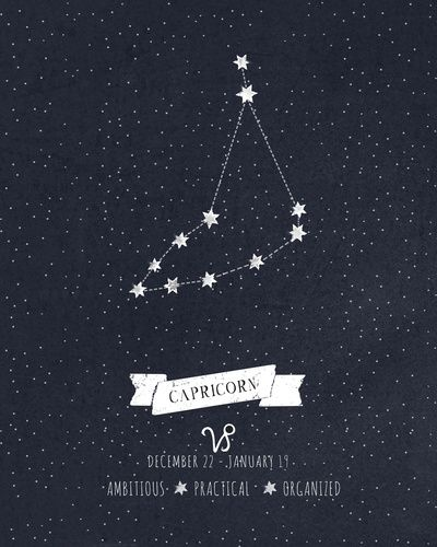 Capricorn Constellation Print Art Print