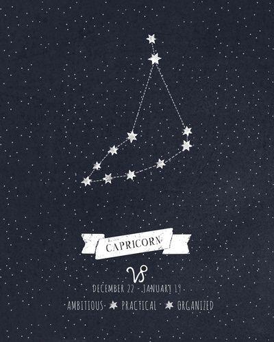 Capricorn Constellation Print Art Print by Angelina Perdomo