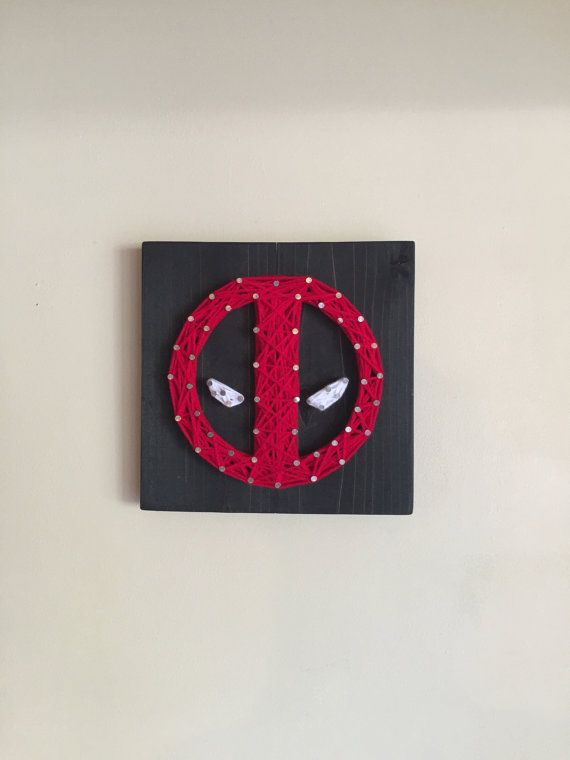 Deadpool String Art Great gift for all Deadpool by EpicStringArt