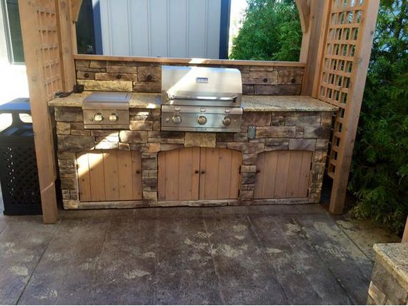 58 best images about outdoor kitchens on pinterest