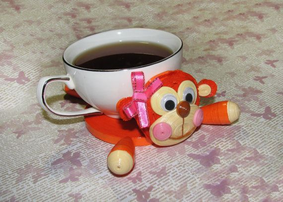 Quilling art. Cute monkey  the symbol of 2016  by QuillingLife