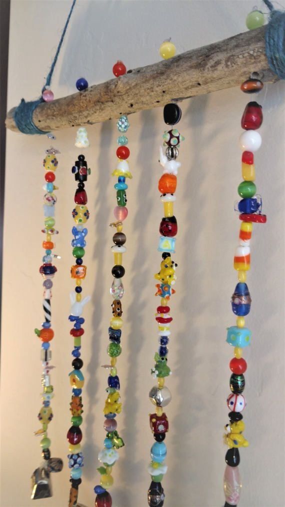 Multi-Colored Beaded Wind Chime