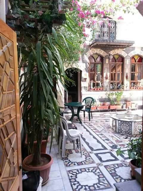 Traditional house in old Damascus, Syria