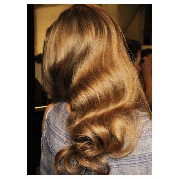 Brushed Out Curls ❤ liked on Polyvore featuring hair