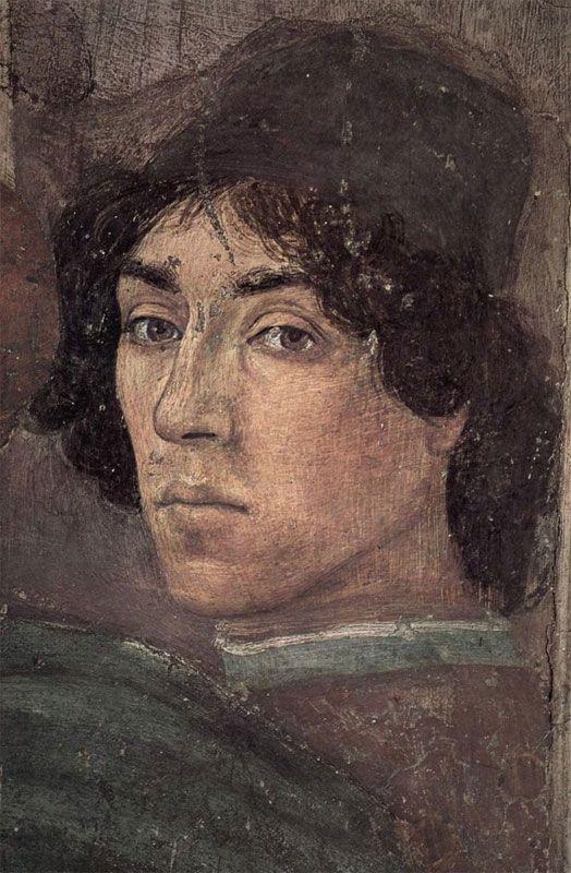 Brancacci Chapel - Florence. Filippino Lippi - Self-portrait.