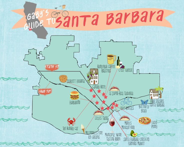 Best Santa Barbara Ca Ideas On Pinterest Santa Barbara - Santa barbara on us map