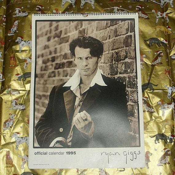 Very Rare Ryan Giggs Official 1995 Calendar by WelshGoatVintage
