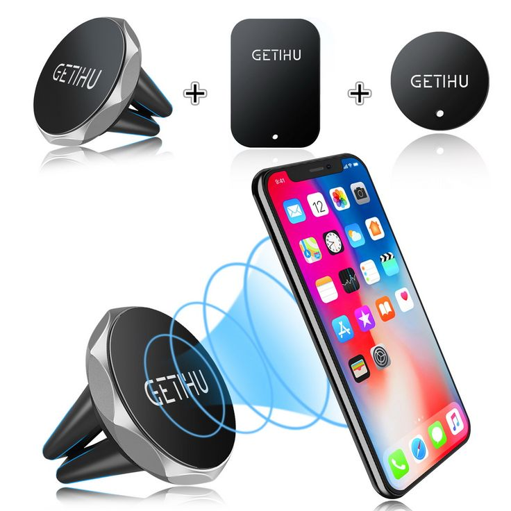 GETIHU Car Phone Holder Magnetic Air Vent Mount Mobile Smartphone Stand Magnet Support Cell Cellphone Telephone Desk Tablet GPS. Click visit to buy this product
