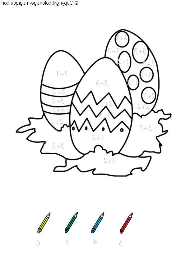 97 Dessins De Coloriage Paques Maternelle A Imprimer Coloriage Magique Coloriage Coloriage Lapin