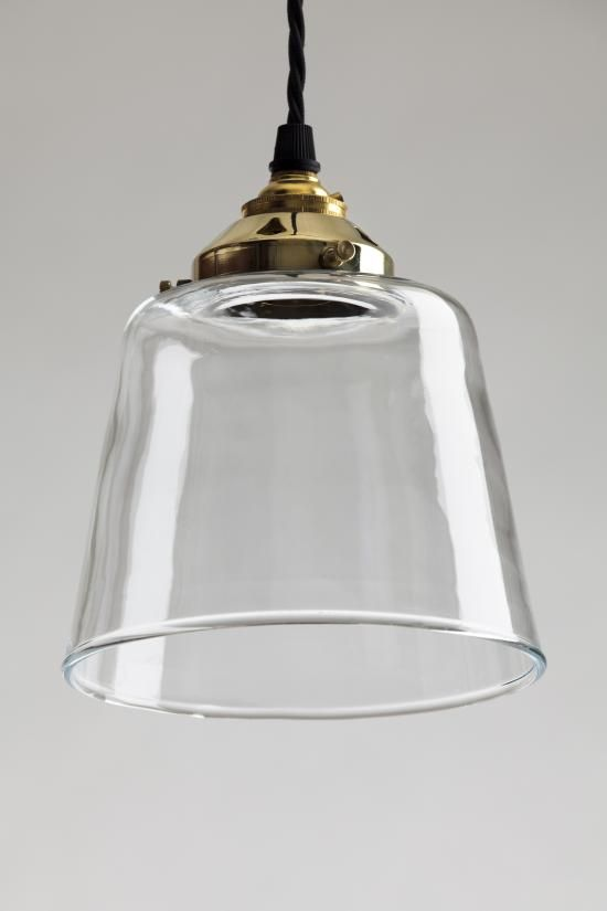 Tapered blown glass pendant, Blown glass pendants - Holloways of Ludlow
