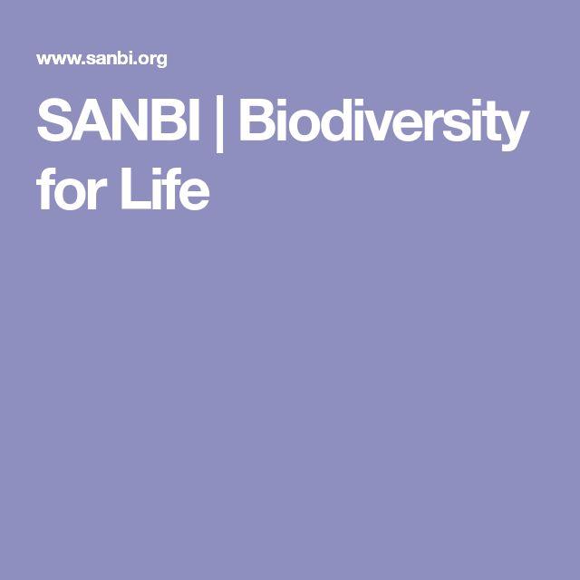 SANBI | Biodiversity for Life