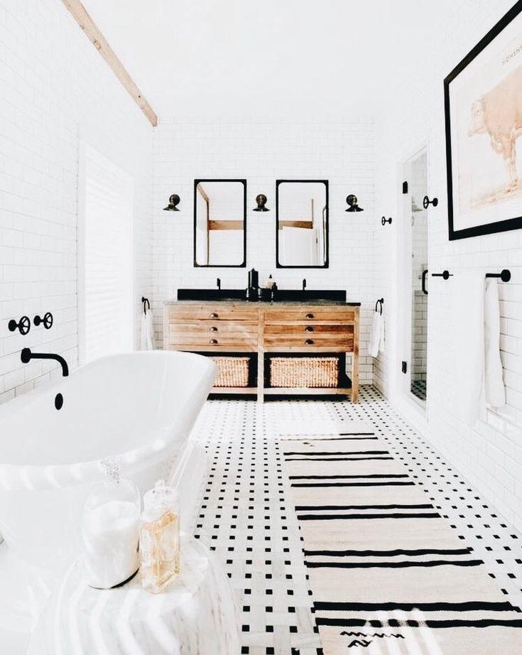 Bathroom Inspiration Black And White Bathroom Clean Design Home House House Design