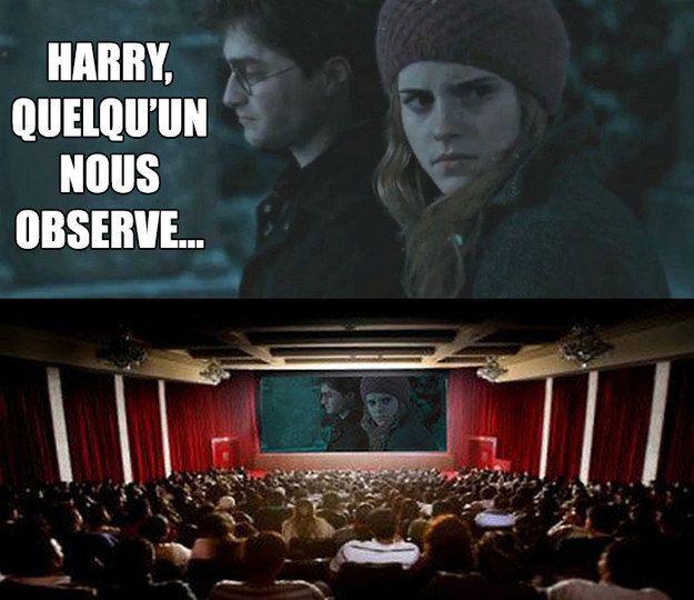 Lol!!Hermione se sent observée quand elle passe au cinéma!!!
