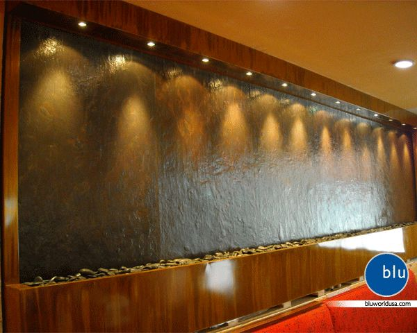 This Stunning Custom Slate Wall Fountain Will Not Be Missed The Large Wall Fountain Can Be Seen At Republic Hospitali Water Features In Hospitality