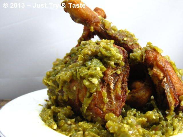 Ayam Goreng Cabai Hijau: imagining this dish makes my saliva gland goes nuts ^_^