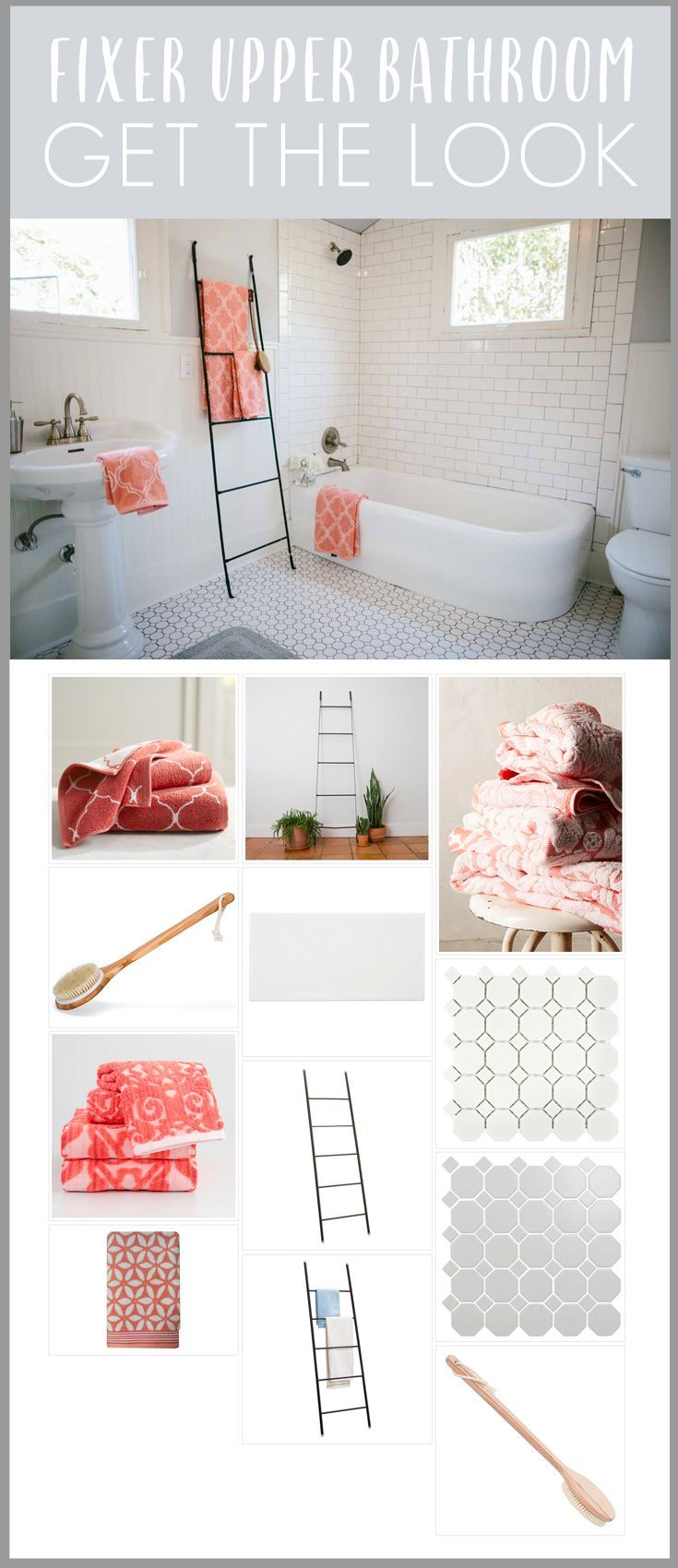 Fixer Upper Season 1 Episode 12 Bathroom room recreation! Full list of decor sources for the 5th Street Story!