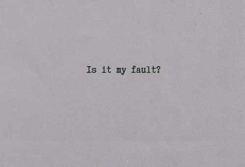 My Fault - Imagine Dragons. Favorite song by my favorite band <3